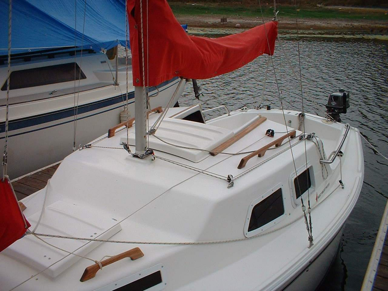 Leading The Halyards And Other Sail Control Lines Back From Mast To Cockpit Is A Fairly Popular P19 Modification Potter Owners Have Found Many